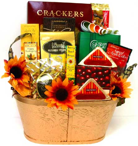 GF115 ''Floral Feast'' Gourmet Gift Basket in Oklahoma City OK, Array of Flowers & Gifts