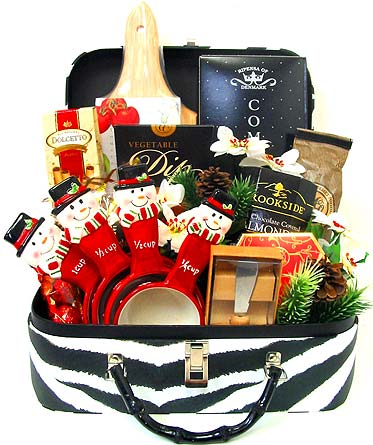 XGF133 ''Christmas Jubilee'' Gift Basket in Oklahoma City OK, Array of Flowers & Gifts