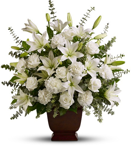 Teleflora's Sincere Serenity in Oklahoma City OK, Array of Flowers & Gifts