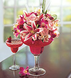 Strawberry Floral Margarita in Sayville NY, Sayville Flowers Inc
