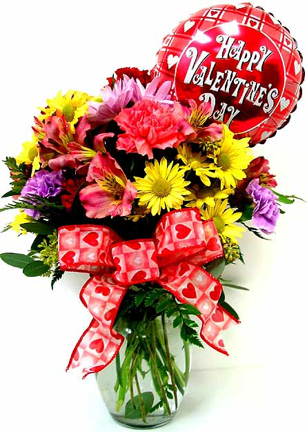 VF89b ''Heart to Heart'' w/ Balloon in Oklahoma City OK, Array of Flowers & Gifts