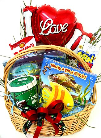 VGB228 ''A Reel Catch'' Fishing Basket in Oklahoma City OK, Array of Flowers & Gifts