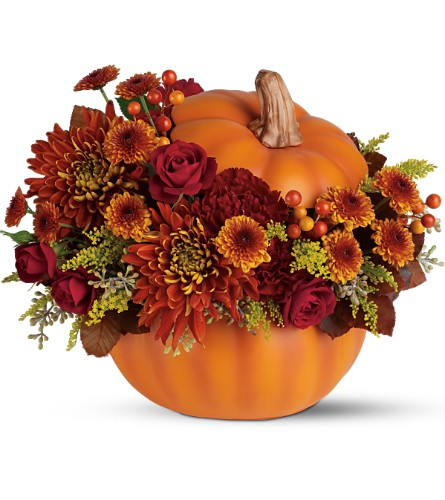 Teleflora's Prize Pumpkin Bouquet in Burlington NJ, Stein Your Florist