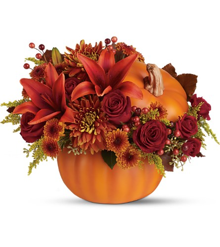 Teleflora's Prize Pumpkin Bouquet - Deluxe in Oklahoma City OK, Array of Flowers & Gifts
