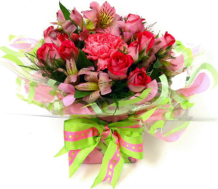 FF113 ''Wrapped in Love'' Flower Bouquet in Oklahoma City OK, Array of Flowers & Gifts