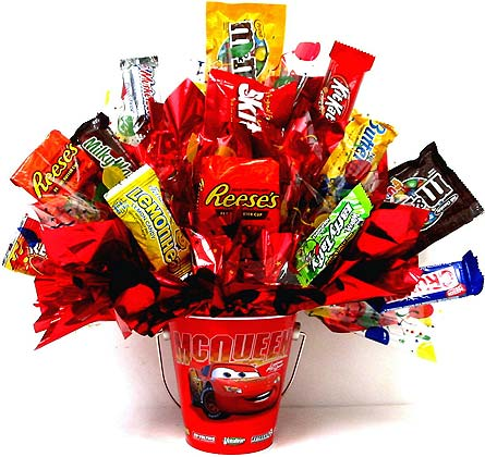 CB252 ''Disney Cars'' Candy Bouquet in Oklahoma City OK, Array of Flowers & Gifts