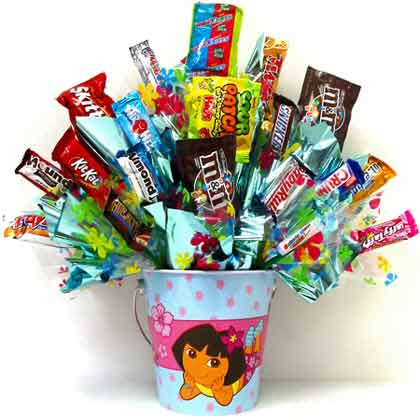 CB264 ''Dora'' Candy Bouquet in Oklahoma City OK, Array of Flowers & Gifts