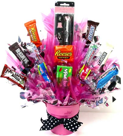 CB263 ''Just Us Girls'' Candy Bouquet in Oklahoma City OK, Array of Flowers & Gifts