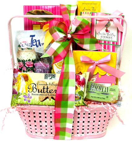 GF142 ''Spring Treats'' Gourmet Food Basket in Oklahoma City OK, Array of Flowers & Gifts