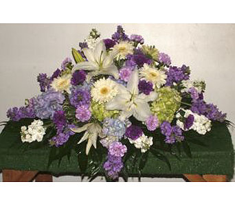 Lavendar Delight Casket Spray in Salisbury MD, Kitty's Flowers