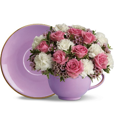 Teleflora's Teacup Blossoms in New Britain CT, Weber's Nursery & Florist, Inc.
