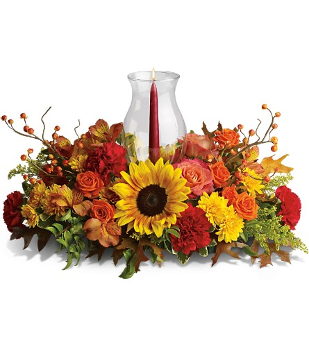 Delight-fall Centerpiece in Cicero NY, The Floral Gardens