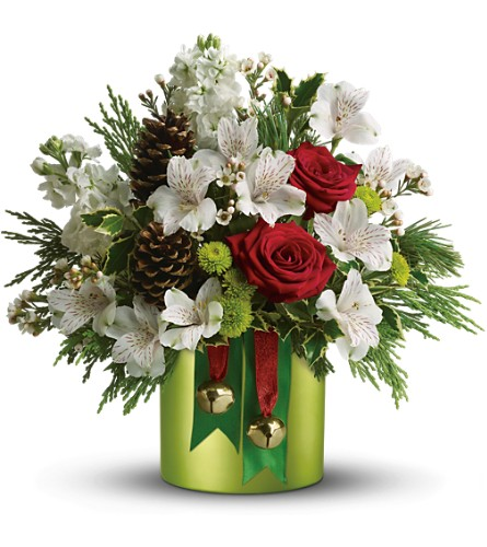 Teleflora's Jolly Jingle in Liverpool NY, Creative Florist