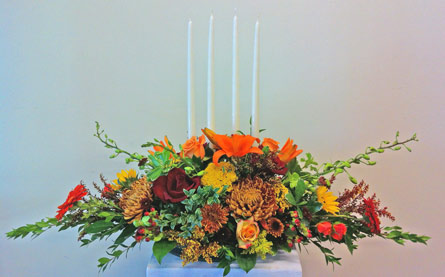 Thanksgiving Quartet in Naples FL, Gene's 5th Ave Florist