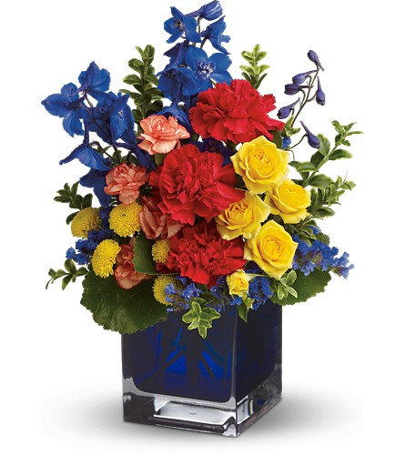 Teleflora's Color Collage in Bakersfield CA, White Oaks Florist