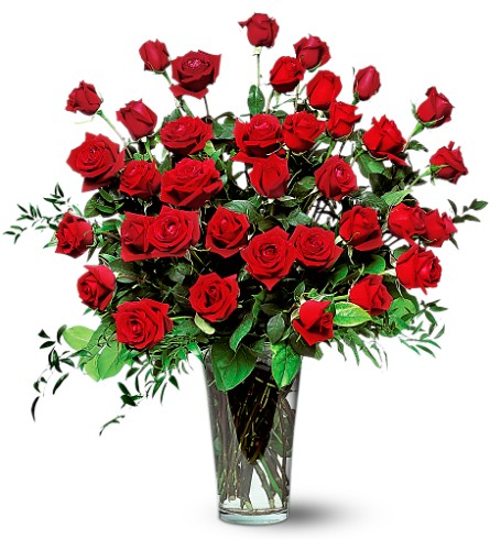 Three Dozen Red Roses in Wilmington MA, Designs By Don Inc