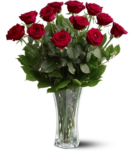 A Dozen Premium Red Roses in Breese IL, Mioux Florist