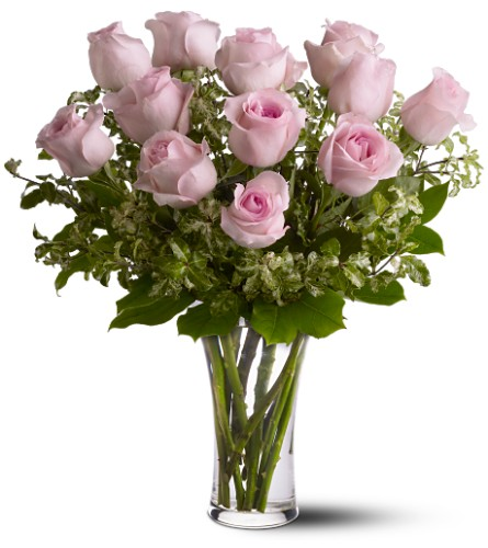 A Dozen Pink Roses in Tuckahoe NJ, Enchanting Florist & Gift Shop
