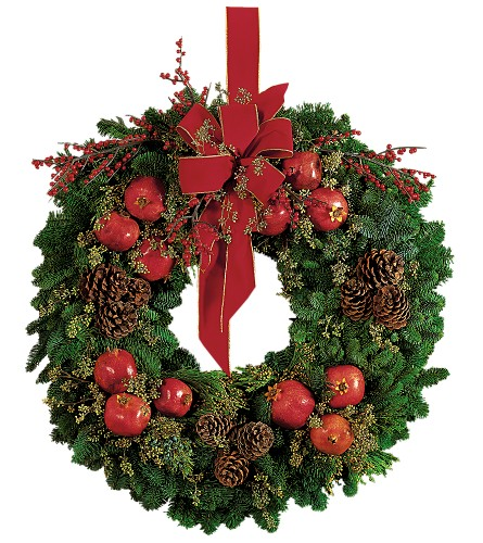 Pomegranate Wreath in New York NY, Fellan Florists Floral Galleria