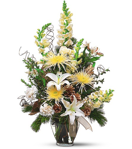 Winter Whites and Glittering Golds in Sayville NY, Sayville Flowers Inc