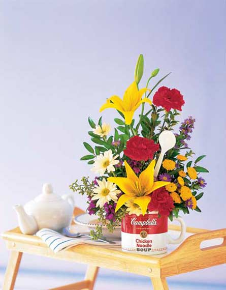 The Teleflora Campbell's® ''Get Well'' Bouquet in Arlington TX, Country Florist
