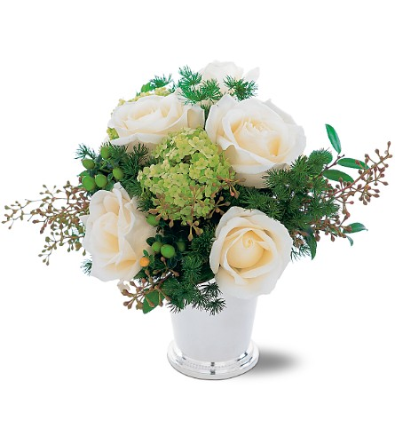 Silver Mint Julep Bouquet in Hollywood FL, Al's Florist & Gifts