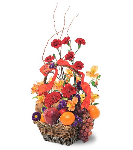 Fruits and Flowers Basket in Liverpool NY, Creative Florist