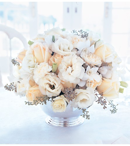 Ivory Centerpiece in Needham MA, Needham Florist