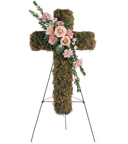 Pink Bouquet Cross in Middle Village NY, Creative Flower Shop