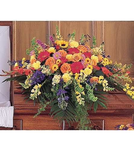 Celebration of Life Casket Spray in Big Rapids MI, Patterson's Flowers, Inc.