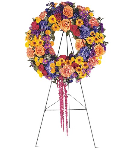 Celebration Wreath in Abington MA, The Hutcheon's Flower Co, Inc.