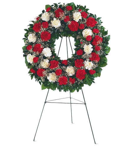 Hope and Honor Wreath in Oklahoma City OK, Array of Flowers & Gifts
