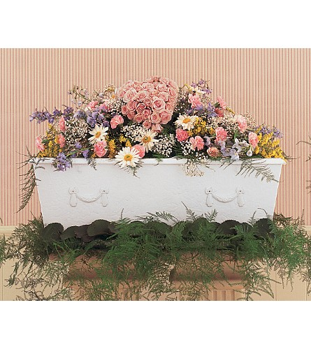 Heavenly Casket Spray in Oklahoma City OK, Array of Flowers & Gifts