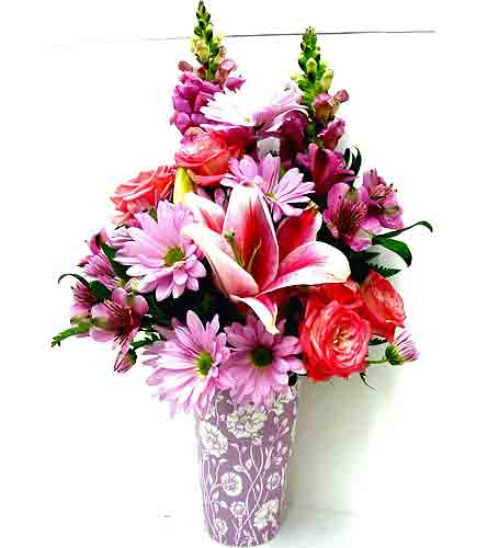 FF23 ''Lucious Lavender'' Vase Arrangement in Oklahoma City OK, Array of Flowers & Gifts