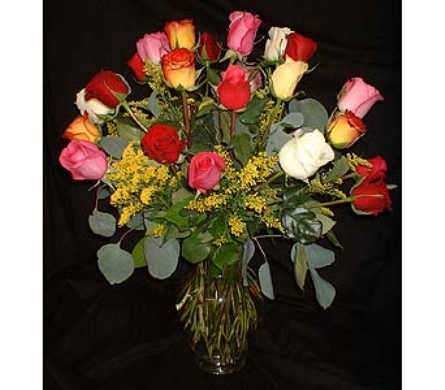 WEEKLY SPECIAL! 24 Rainbow Roses - Colorful! in Dallas TX, Z's Florist