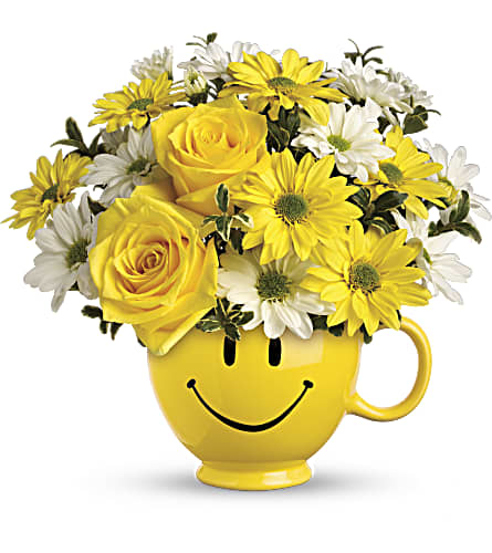 Teleflora's Be Happy Bouquet with Roses in Homer NY, Arnold's Florist & Greenhouses & Gifts