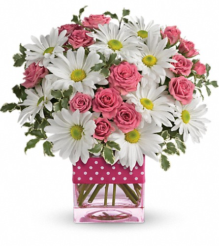 Teleflora's Polka Dots and Posies in Scobey MT, The Flower Bin