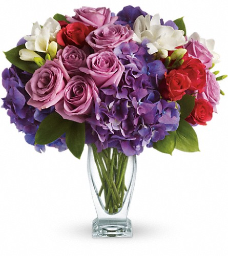 Teleflora's Rhapsody in Purple in New York NY, Fellan Florists Floral Galleria