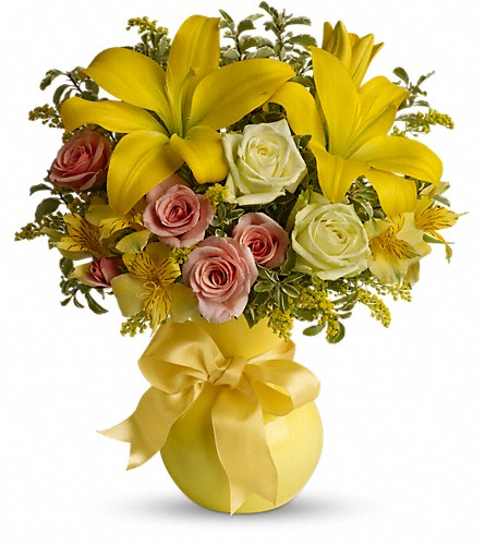 Teleflora's Sunny Smiles in Lewiston ME, Val's Flower Boutique, Inc.