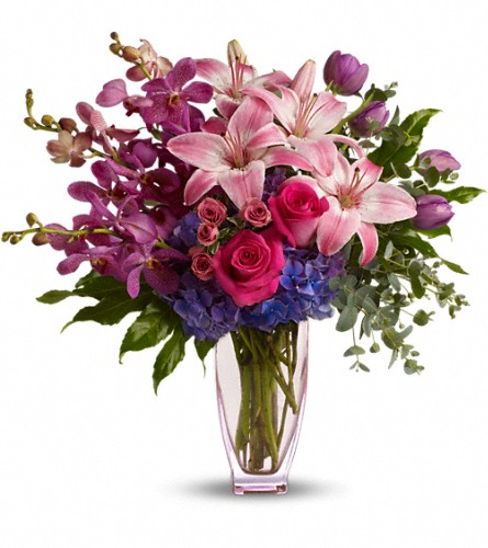 Teleflora's Purple Perfection in Kelowna BC, Burnetts Florist & Gifts