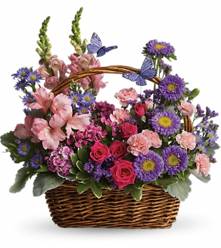 Country Basket Blooms in San Juan PR, De Flor's Flowers & Gifts