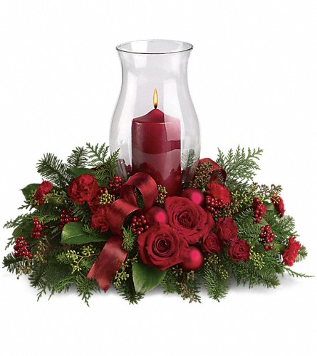 Holiday Glow Centerpiece in New York NY, Fellan Florists Floral Galleria