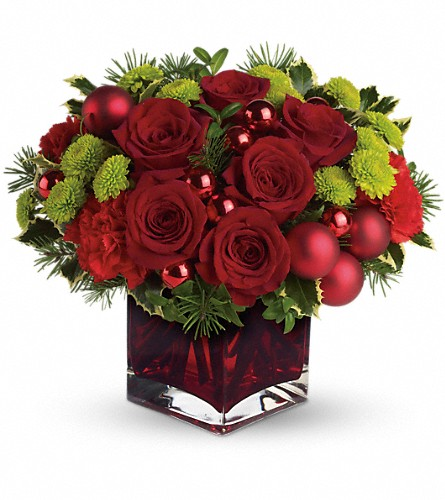 Teleflora's Merry & Bright in Waukesha WI, Flowers by Cammy