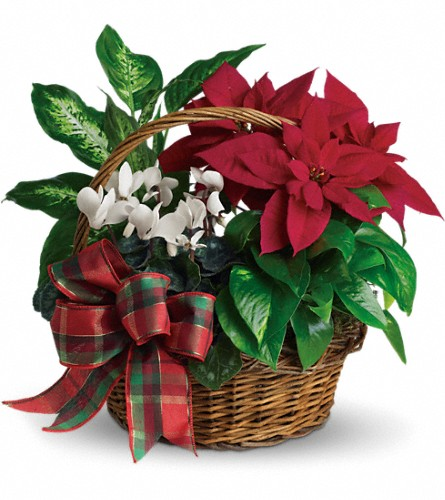 Holiday Homecoming Basket - Deluxe in Fort Worth TX, TCU Florist