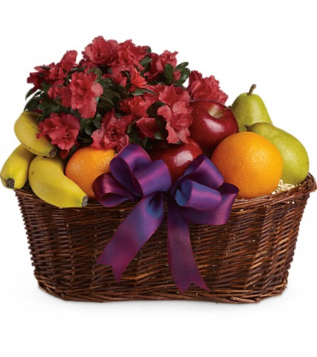 Fruits and Blooms Basket in Amherst NY, The Trillium's Courtyard Florist