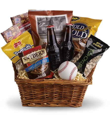 Take Me Out to the Ballgame Basket in Red Oak TX, Petals Plus Florist & Gifts