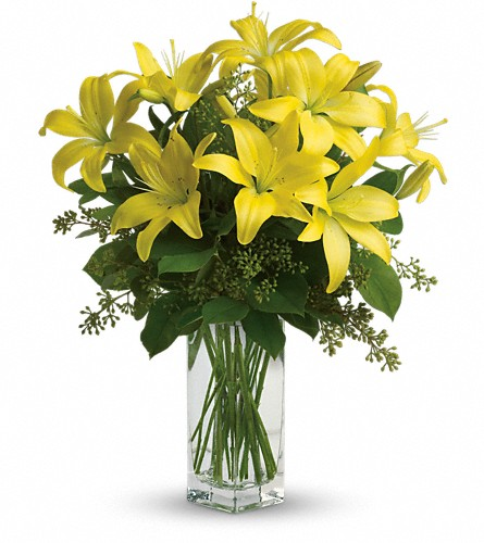 Teleflora's Lily Sunshine in Abington MA, The Hutcheon's Flower Co, Inc.