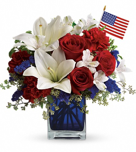 America the Beautiful by Teleflora in Austin TX, Ali Bleu Flowers