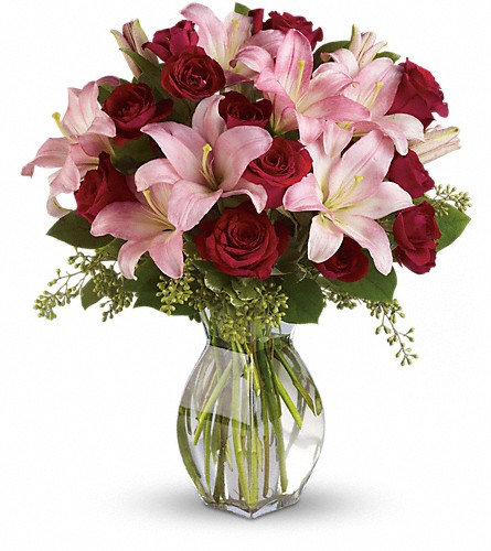 Lavish Love Bouquet with Long Stemmed Red Roses in Auburn IN, The Sprinkling Can