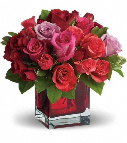 Madly in Love Bouquet with Red Roses by Teleflora in Rock Island IL, Colman Florist